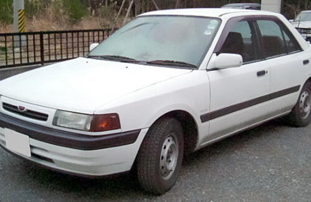 File:Mazda Familia Sedan 1991.JPG. No higher resolution available.