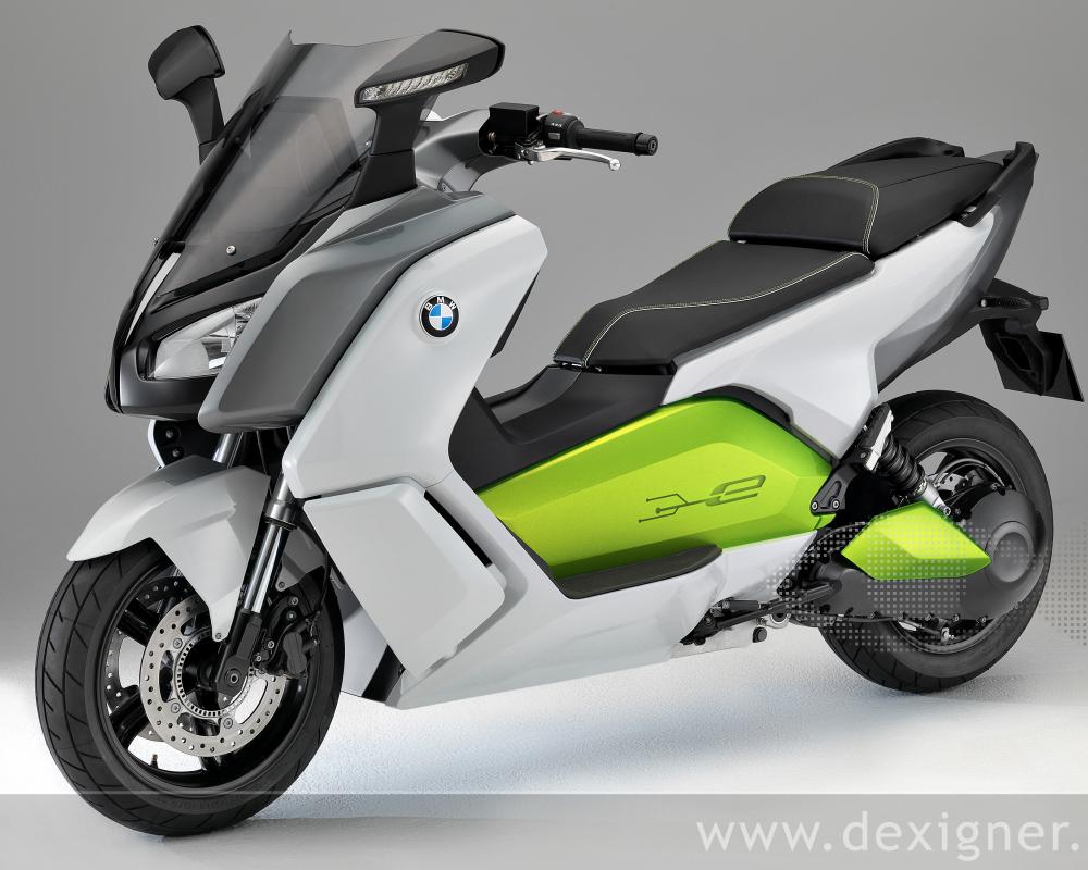 "The ""C evolution"" draws on the innovative styling of the BMW Motorrad family"