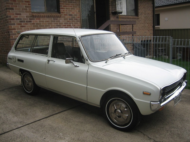 This is my 1974 Mazda 1300 wagon bought it off some kid named Issac