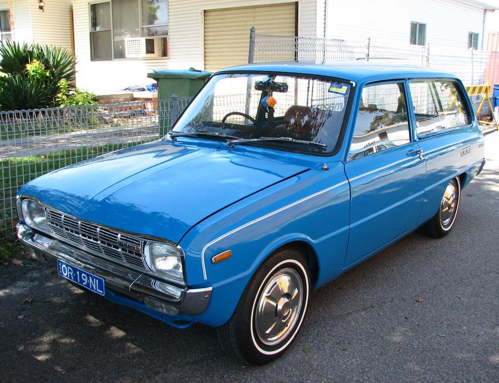 Mazda 1300 Wagon. I'd love one of these with some R100 bits/a mild 12A in it
