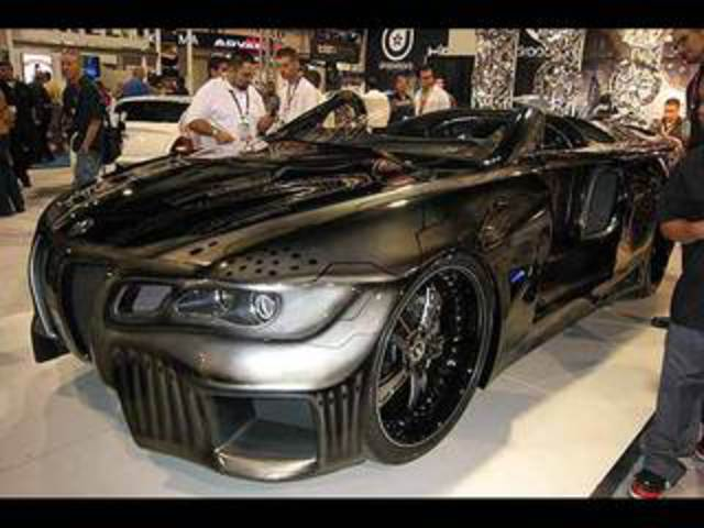 Alpine Sinister Six BMW 645i Showcar. The dark Sinister Six is based on BMW