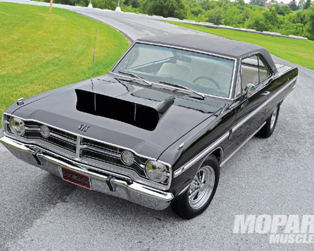 1968 Dodge Dart Gts Front Top View