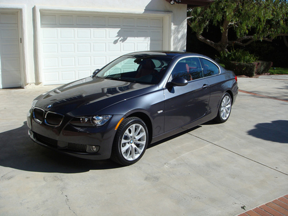 Day 1 of my 2008 BMW 335xi Coupe Sparkling Graphite w/ Coral Red Leather