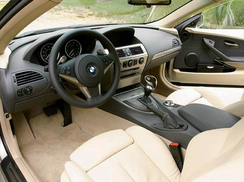 Bmw 645I Smg Front Interior View. Bmw 645I Smg Front Interior View