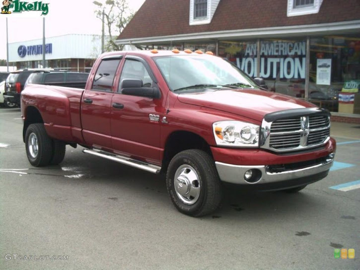 2008 Inferno Red Crystal Pearl Dodge Ram 3500 Big Horn Edition Quad Image
