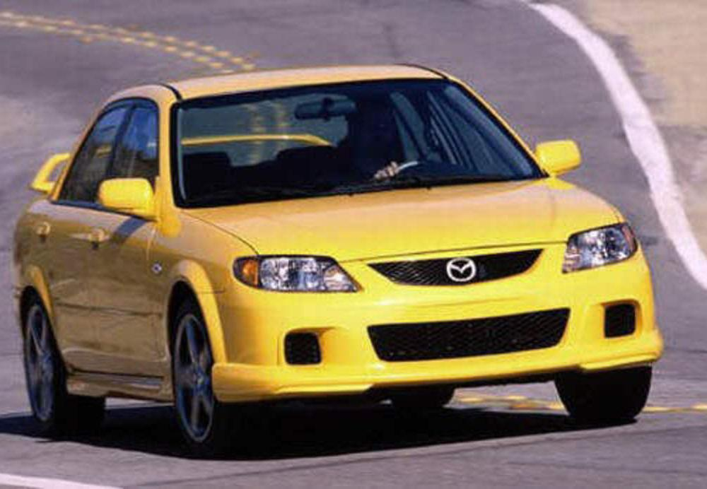 Front Right Yellow 2003 Mazda MazdaSpeed Protege Car Picture