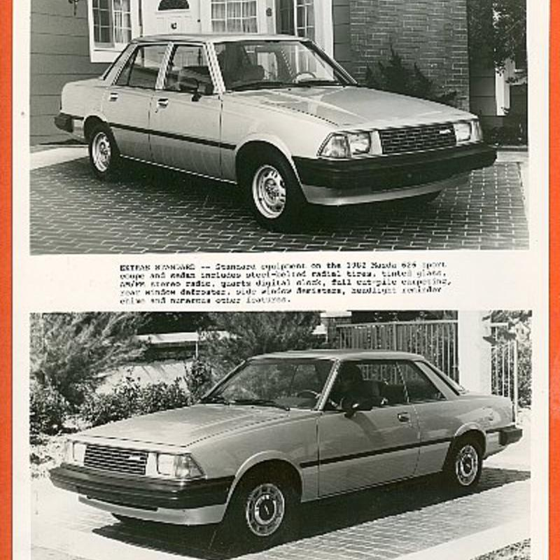 1982 Mazda 626 Sport Coupe and Sedan Official Photo | eBay