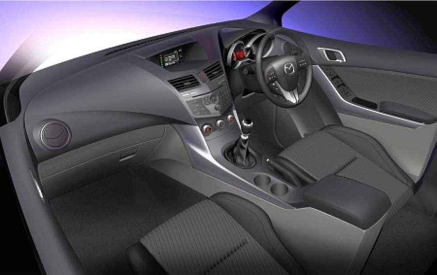 mazda bt-50 interior. Following on the teaser sketch of its new BT-50