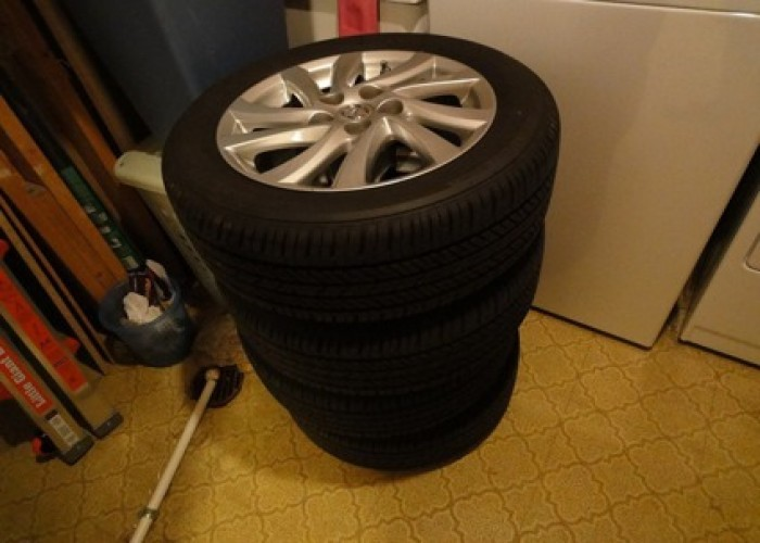 "$850 OBO OEM 2012 Mazda 3 16"" wheels + tires+ TPMS in Burke, Virginia For"