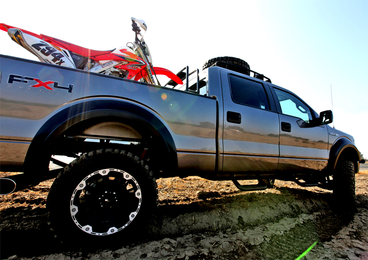 2009 Ford F-150 FX4 truck modified as Baja Chase Support Truck by Hellwig