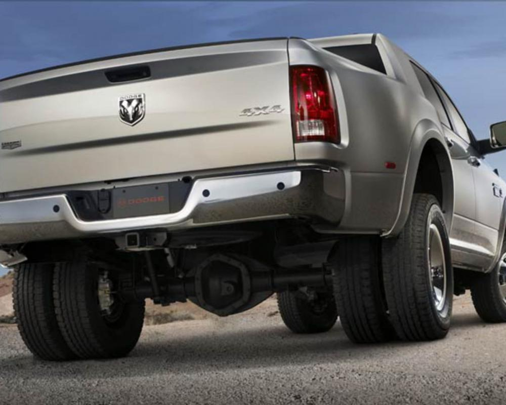2010 Dodge Ram 3500 Laramie Mega Cab 4X4 Rear View