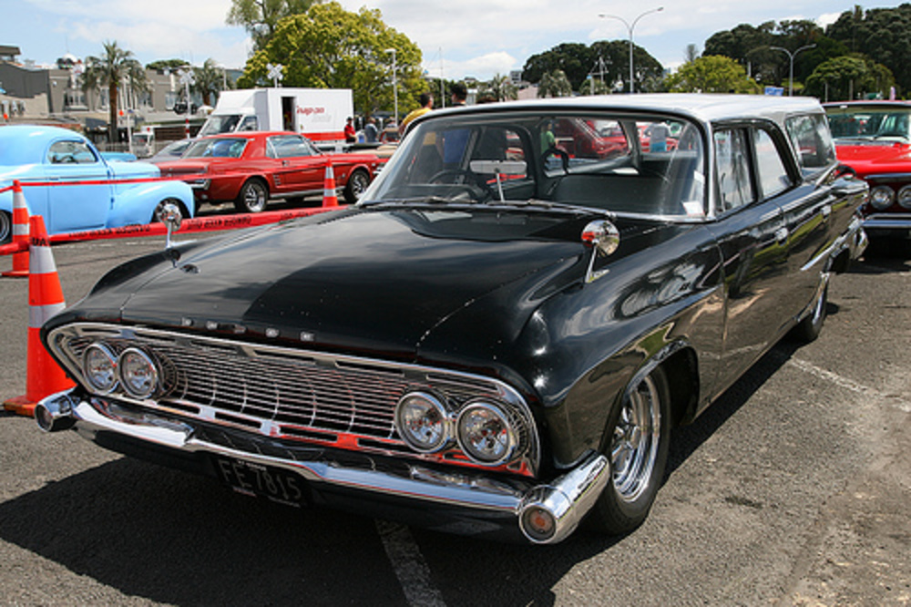 "1961 Dodge Seneca Station Wagon. ""Rods on the Waterfront"" ~ Tauranga,"