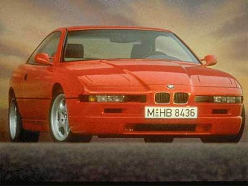 It was BMW's flagship car while in production. BMW 850 CSi Front