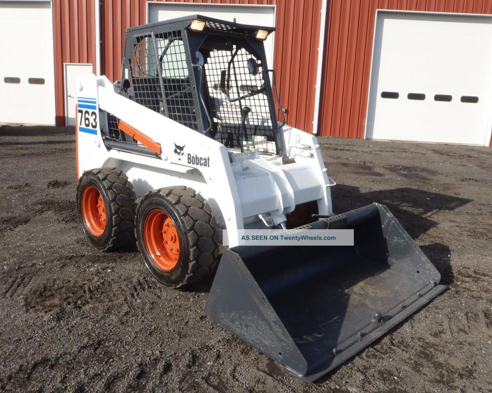 1995 Bobcat 763 Skid Steer Loader Only 3492 Hours Runs Great Great ...