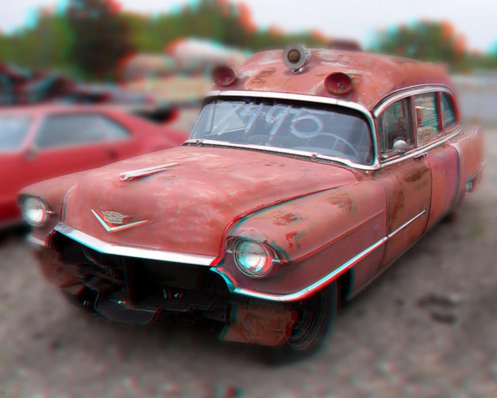 Clunker 1955 Cadillac Ambulance Anaglyph 3D SDC13602 | Flickr ...