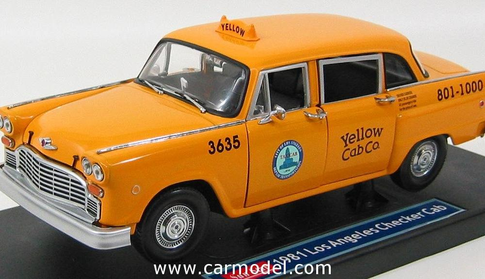 SUN-STAR 02503 Scale 1/18 | CHECKER SPECIAL A11 TAXI CAB LOS ...