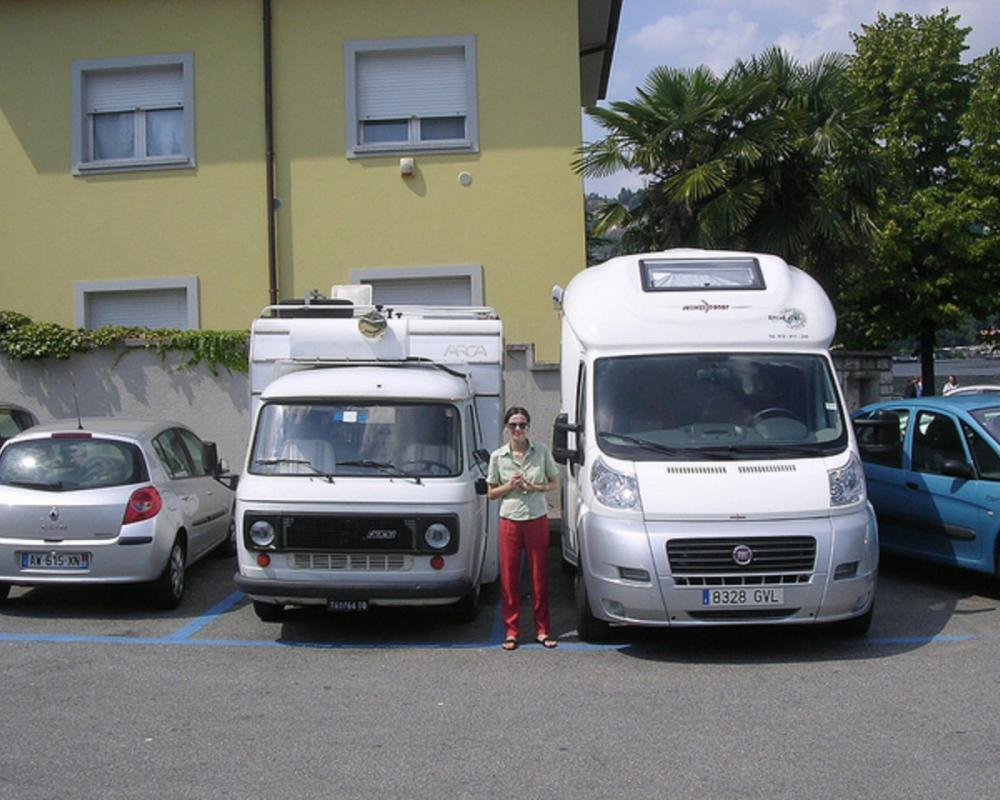 Fiat 238 and Fiat Ducato camper vans Como Italy August 2010 ...