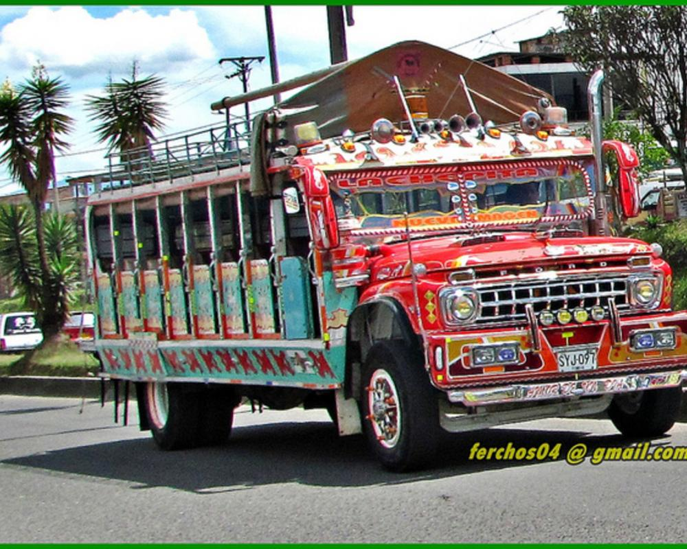 Chiva Colombiana - bus escalera - FORD 600 1965 SYJ 097 | Flickr ...