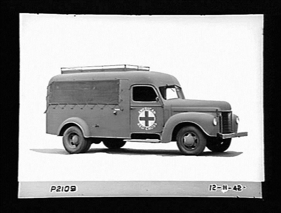 Glass Negative - International Harvester, K Series Motor Ambulance ...