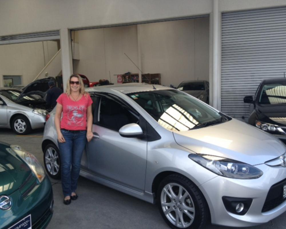 Jayna Wadsworth brought this sporty Mazda Demio form Shane at our ...