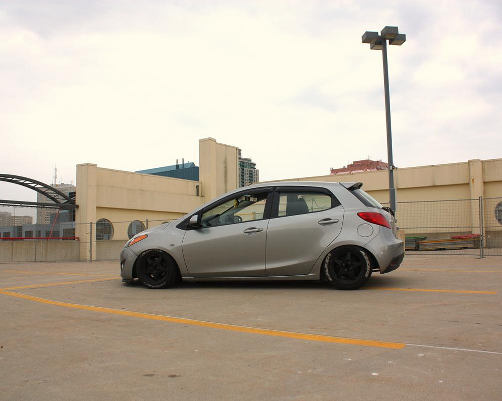 Slammed Mazda 2 (Edit) | Flickr - Photo Sharing!