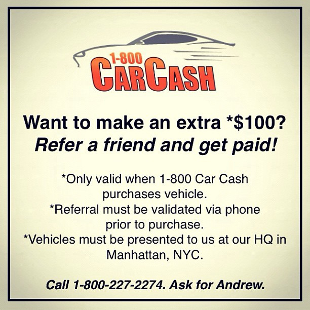 Wanna make some extra cash? #1800carcash #carcash #cashforcars ...