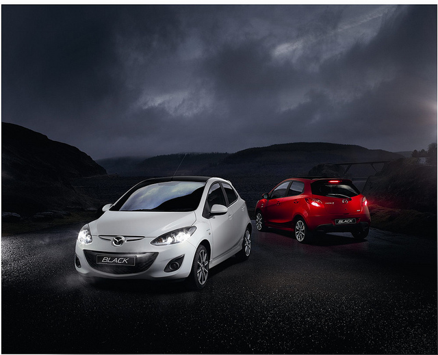 Mazda 2 White and Red | Flickr - Photo Sharing!