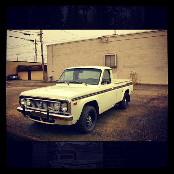 Tough as nails. #1974 #Mazda #REPU #pickup #white #classiccar ...