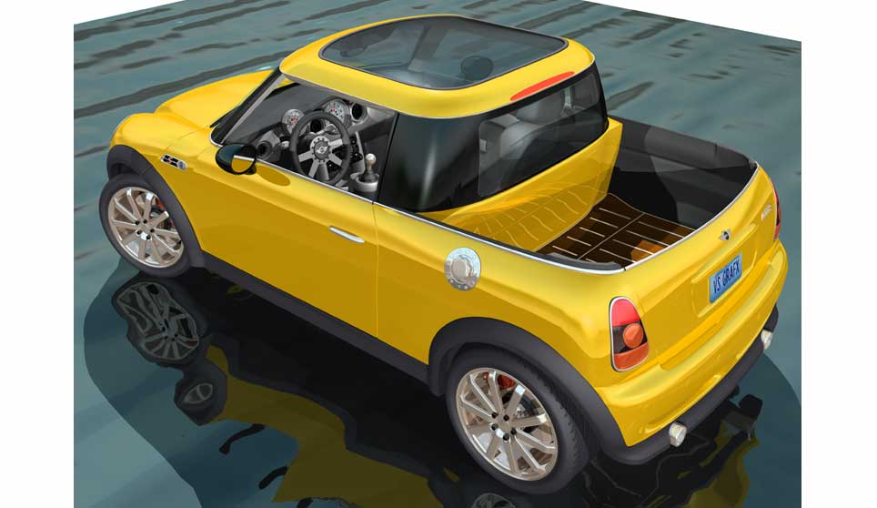 Mini cooper pick-up pictures. Photo 3.