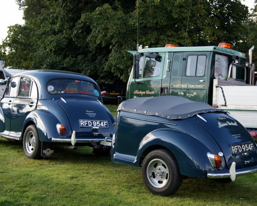 Morris Minor 1000 and matching trailer RFD954F | Flickr - Photo ...
