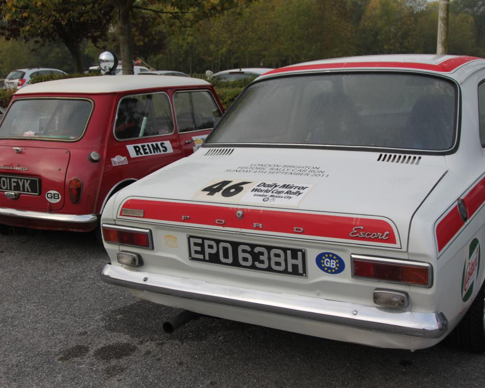 Ford Escort Twin Cam - Morris Mini Cooper - Champagne Rally 2011 ...