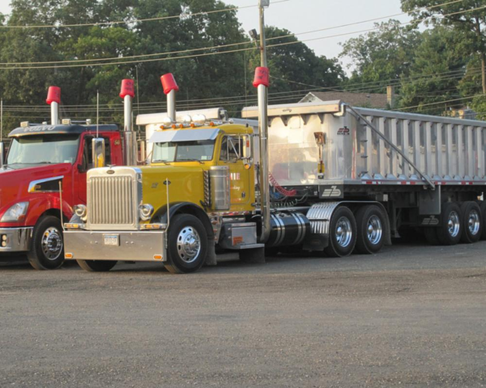 Peterbilt 379 and Volvo Dump Trailers | Flickr - Photo Sharing!