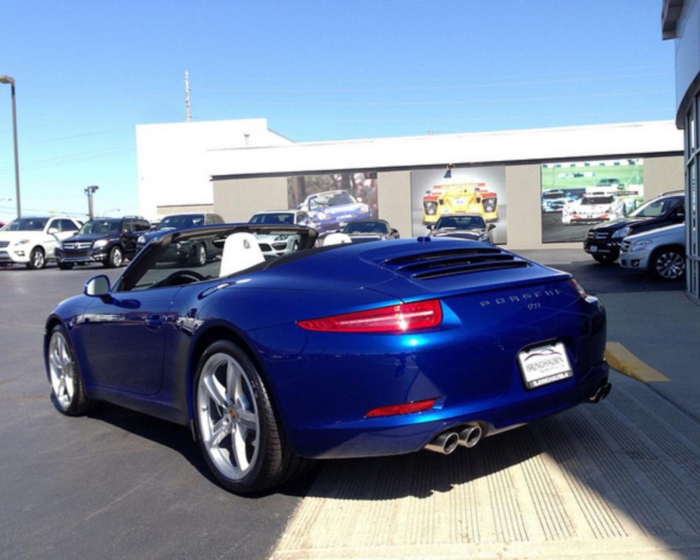 2013 Porsche 911 Carrera Cabriolet Aqua Blue Metallic with Agate ...