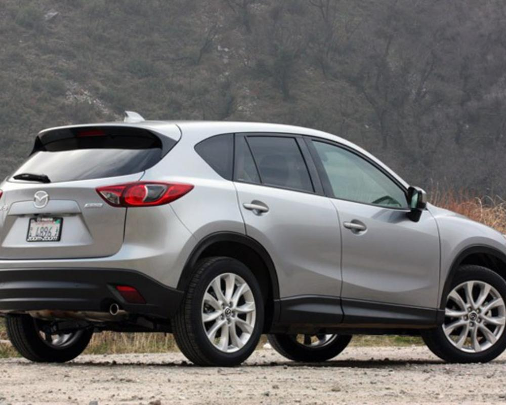 2013 Mazda CX-5 rear 3/4 view. Mazda has yet to announce pricing for the