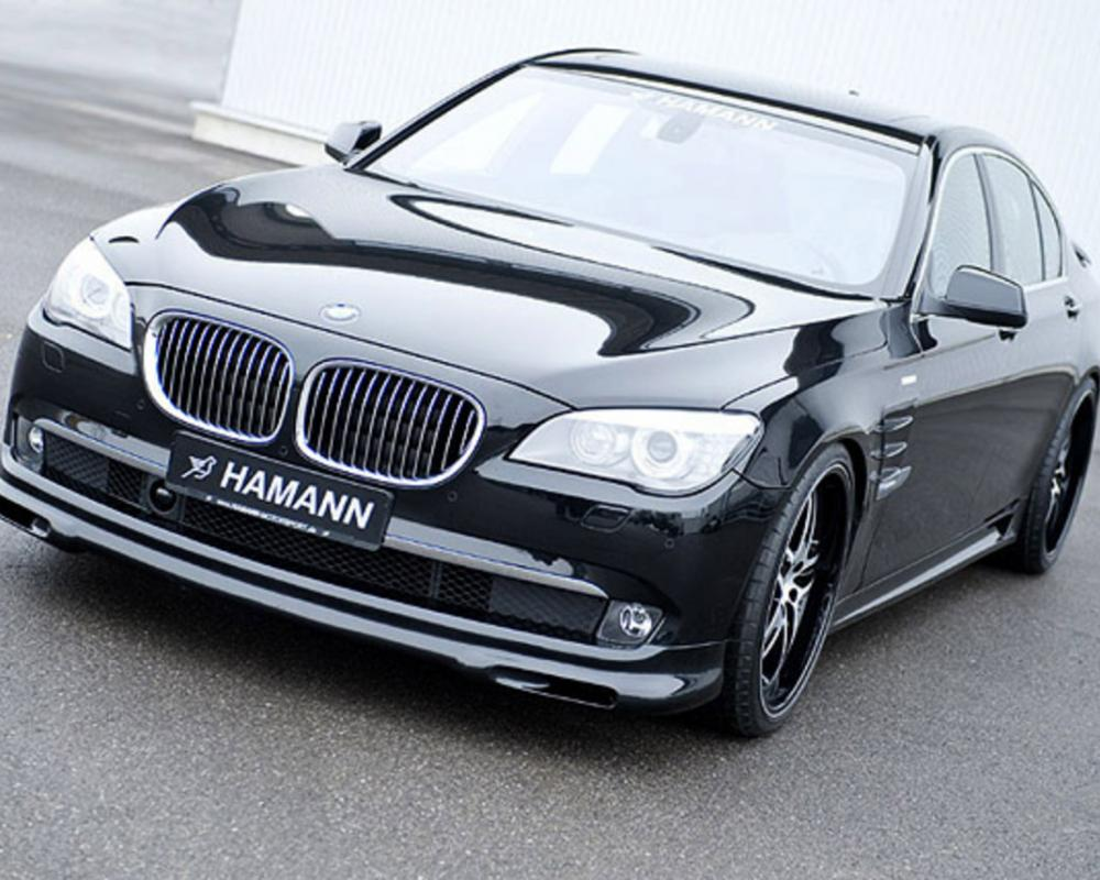 Fitted with the new bumper, the 2011 BMW 7 Series luxury sedan strikes with