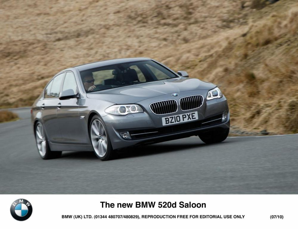 The standard BMW 520 is available with manual transmission and as a four