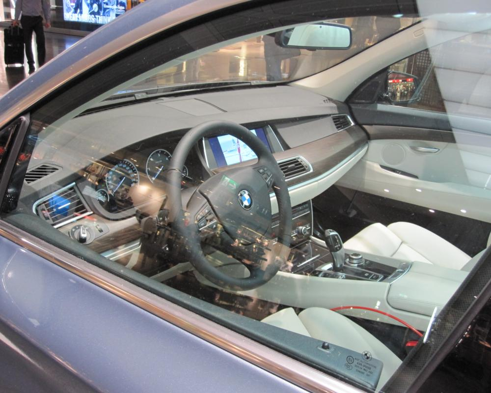 BMW 530d GT on display at Munich Airport
