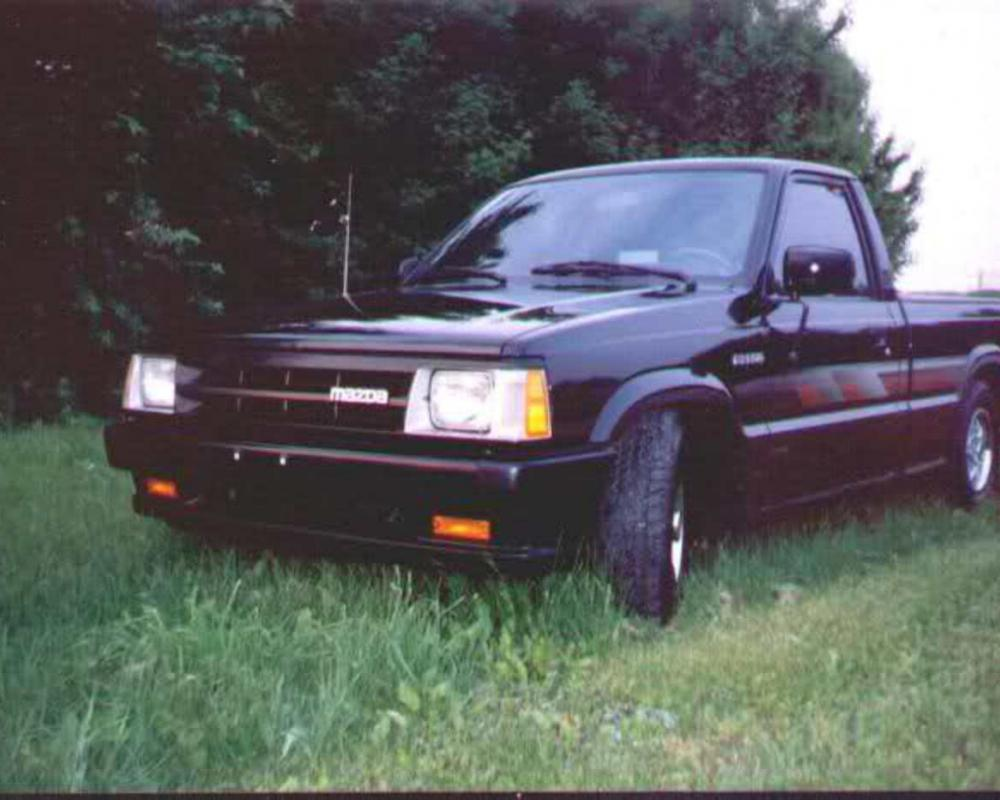 A brand new 1990 Mazda B2200 SE-5. Image 1992 at the DuQuoin Street Machine