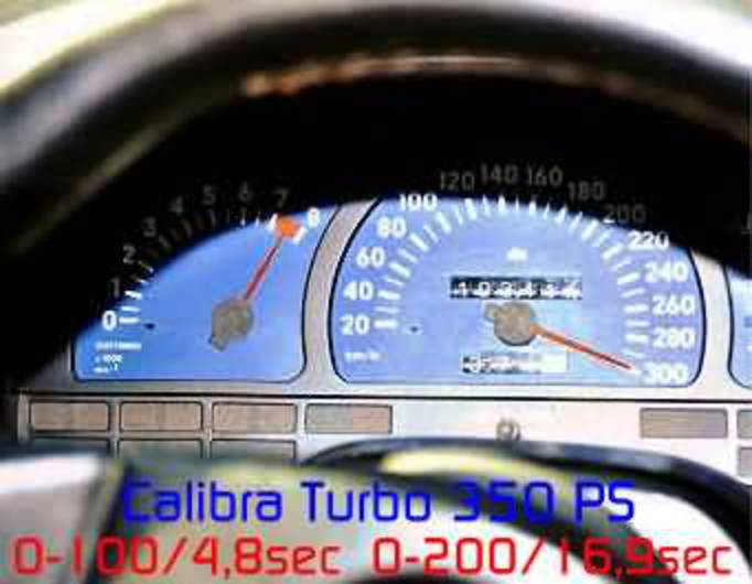 Opel Calibra Turbo tuned 350 hp 300 km/h