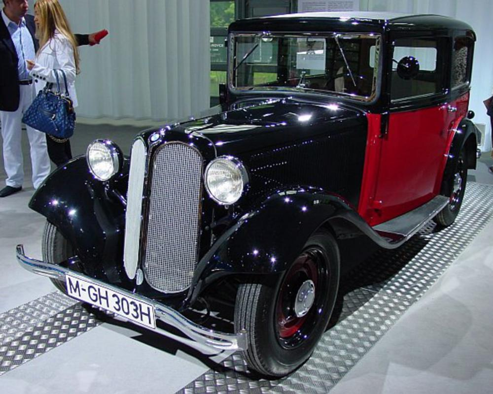 BMW 303. With the typical radiator grill, and a 6-cylinder under the hood,