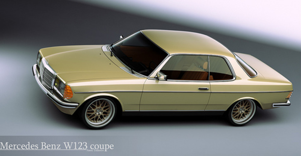 Mercedes Benz W123 coupe by Asen Todorov