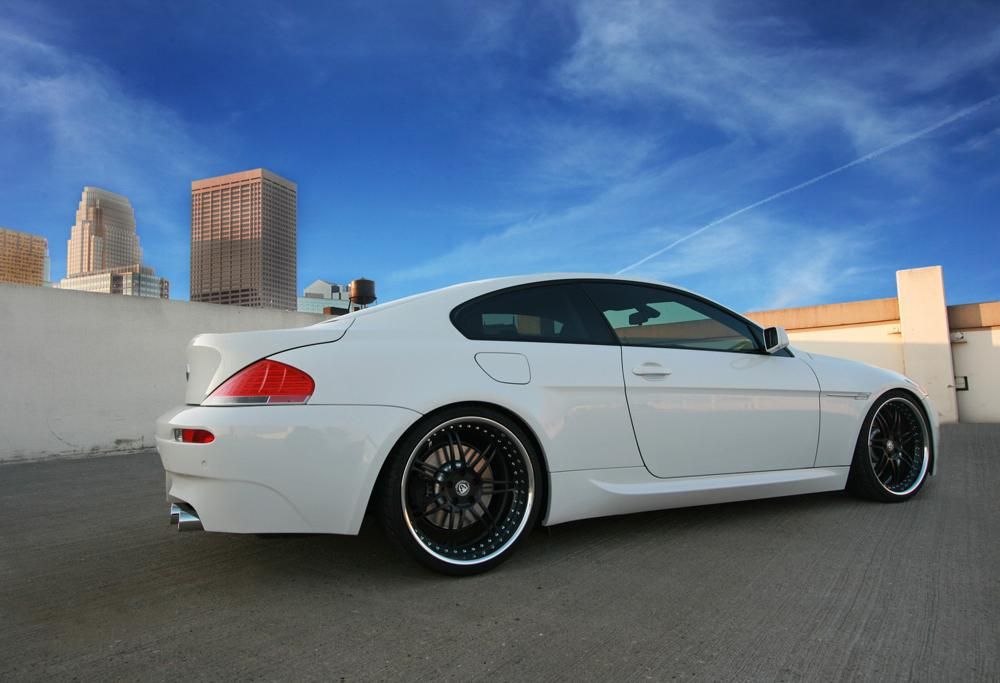 "BMW 645i with 21"" iForged PS Daytona finished in Hyper Black with Chrome Lip"