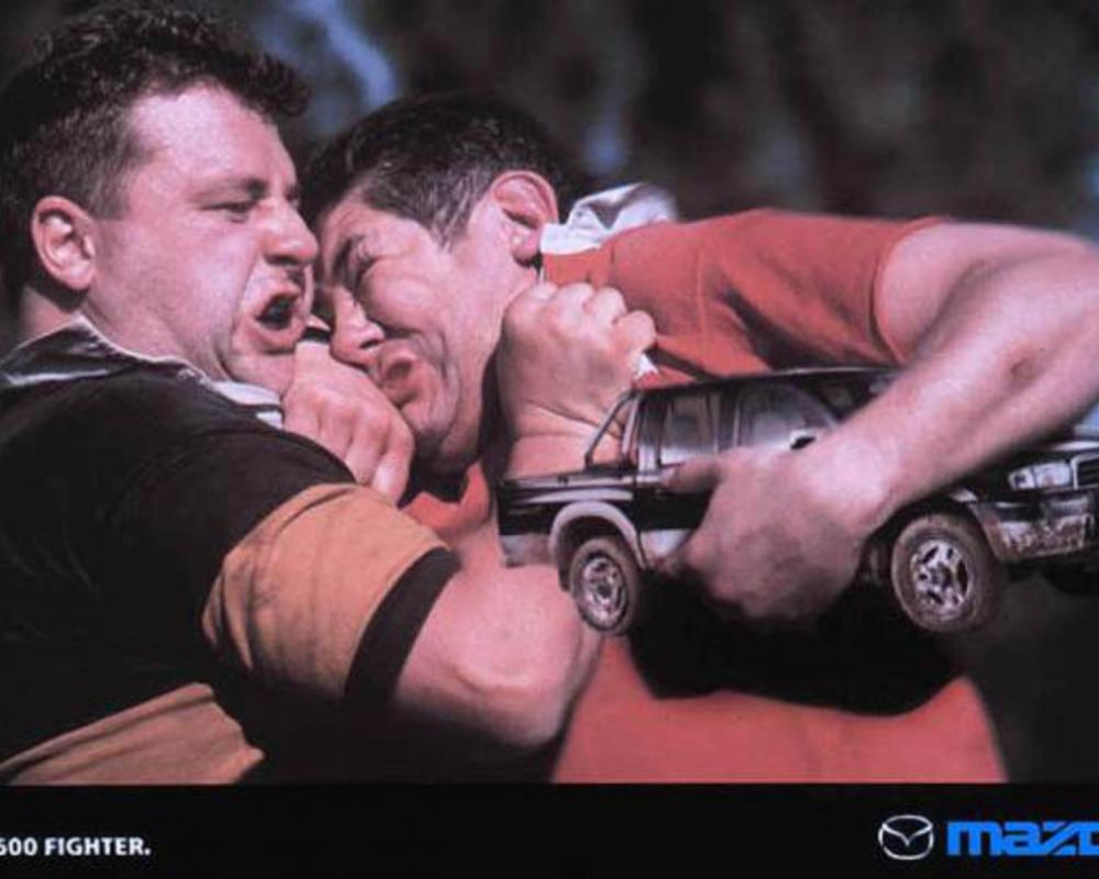 RUGBY, Mazda B2500 Fighter, J Walter Thompson Publicidade, Mazda, Print,