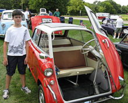 The BMW 600 was intended as an enlarged Isetta with more power and a more