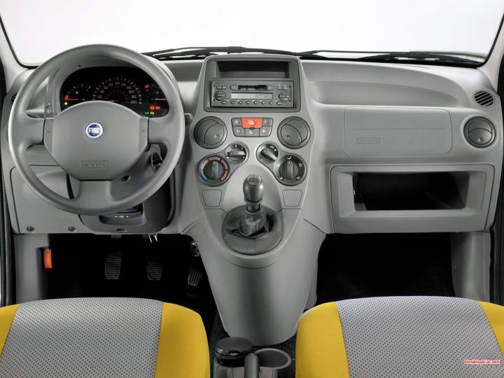 Fiat Panda Interior Design with First Two Seats and Steering