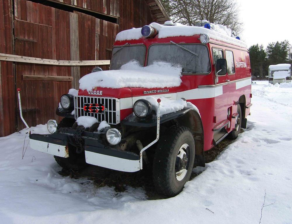 Old Dodge Power Wagon fire truck | Somewhere in Finland, loo… | Flickr