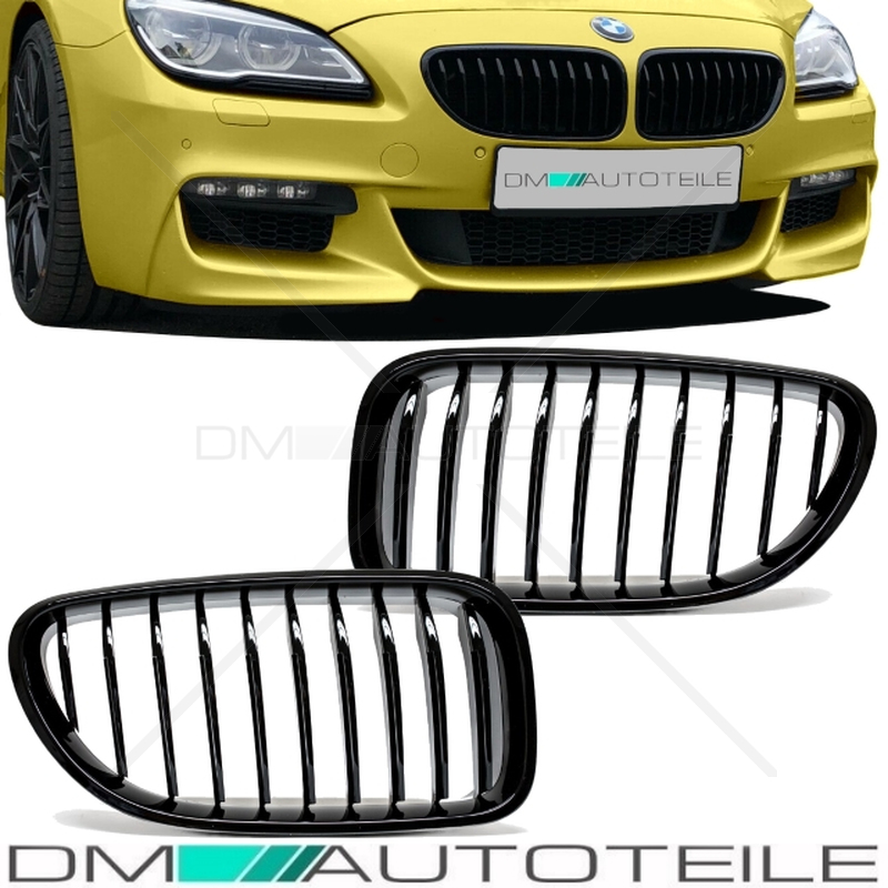 Sport -Performance Front Grille Kidney Black Gloss fits on BMW 6 ...