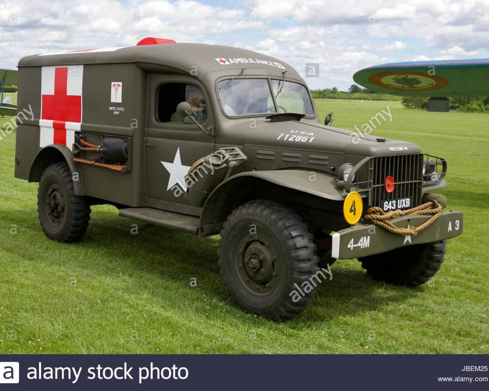Dodge WC54 3/4-ton Battlefield Ambulance Stock Photo: 144767229 ...