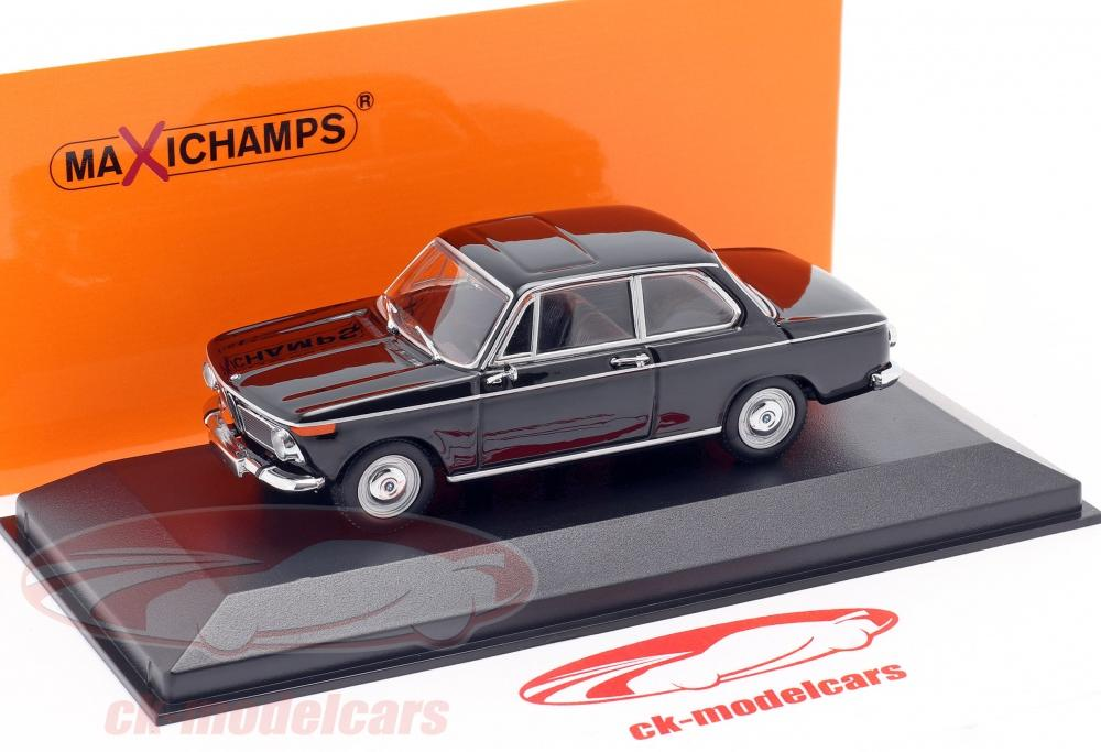 Minichamps 1:43 BMW 1600 year 1968 black 940022101 model car ...