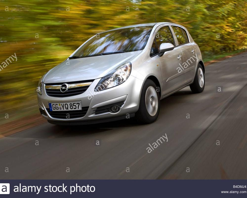 Opel Corsa 1.2 Edition, model year 2006-, silver, driving ...